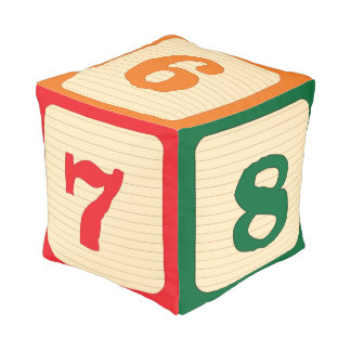Alphabet Street Cubed Pouf Cube Pouf