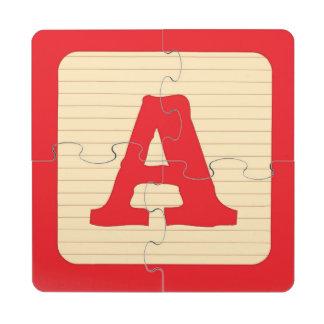 Alphabet Street Puzzle Coaster