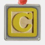 Alphabet Toy Block C Ornaments
