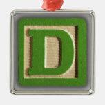 Alphabet Toy Block D Ornament