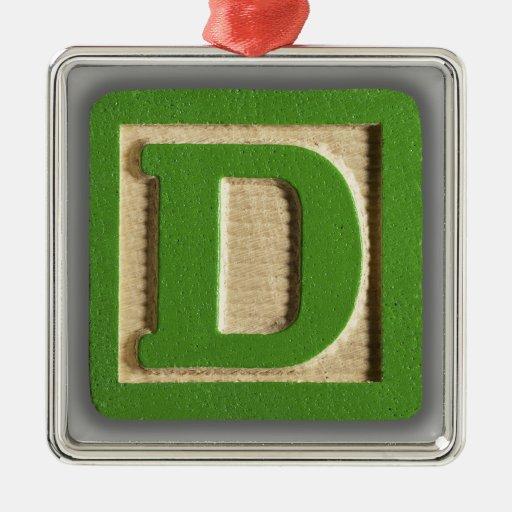alphabet toy block d ornament With block letter ornaments