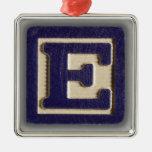 Alphabet Toy Block E Christmas Ornament