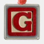 Alphabet Toy Block G Ornament