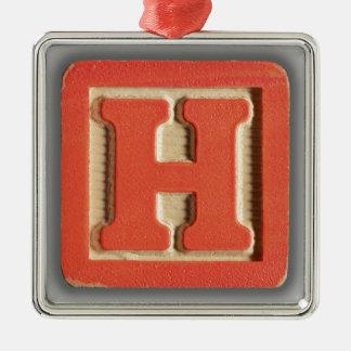 Alphabet Toy Block H Christmas Ornaments
