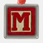 Alphabet Toy Block M Ornaments