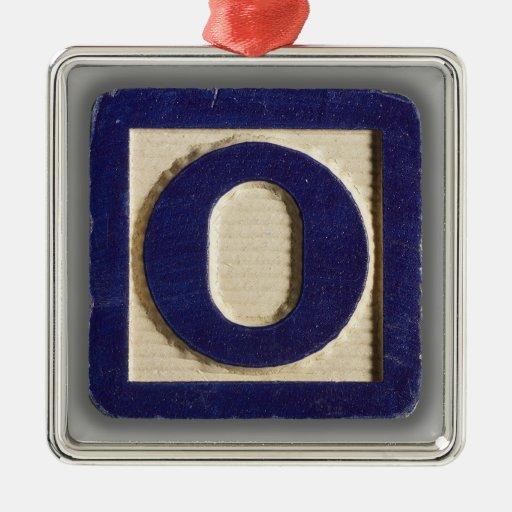 Alphabet Toy Block O Ornaments