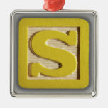 Alphabet Toy Block S Ornament