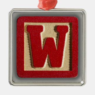 alphabet toy block w metal ornament