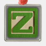 Alphabet Toy Block Z Ornaments