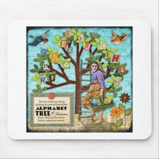 Alphabet Tree Mousepad