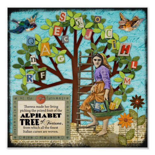 Alphabet Tree of Fortuna Poster