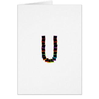 Alphabet U with colorful Card