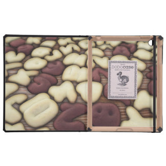 Alphabet Vanilla and Chocolate Cookies Biscuits Case For iPad