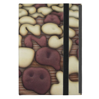 Alphabet Vanilla and Chocolate Cookies Biscuits Case For iPad Mini