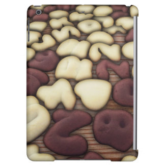 Alphabet Vanilla and Chocolate Cookies Biscuits iPad Air Case
