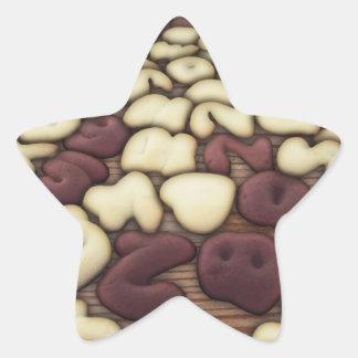 Alphabet Vanilla and Chocolate Cookies Biscuits Stickers