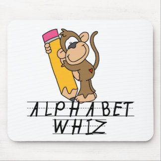 Alphabet Whiz Tshirts and Gifts Mouse Pad