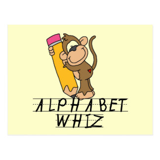Alphabet Whiz Tshirts and Gifts Postcard