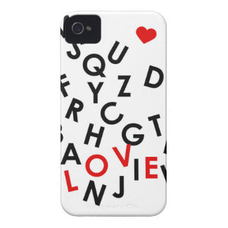 alphabet with the word: love iPhone 4 case