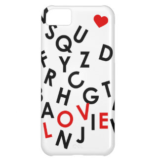 alphabet with the word: love iPhone 5C cover