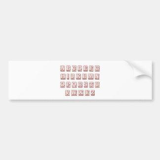 Alphabet Words Bumper Sticker