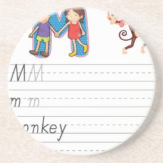 Alphabet worksheet coaster