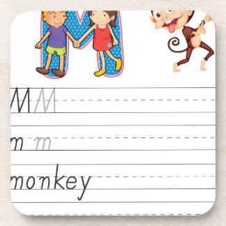 Alphabet worksheet coasters