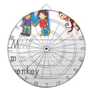 Alphabet worksheet dart board
