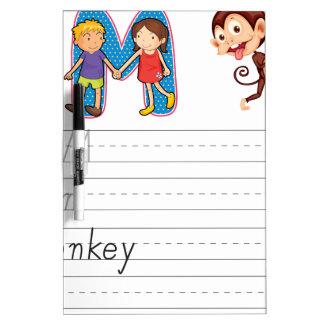 Alphabet worksheet Dry-Erase whiteboard