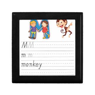 Alphabet worksheet keepsake box