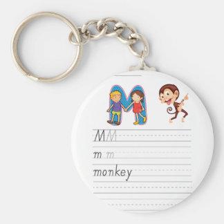 Alphabet worksheet key chain