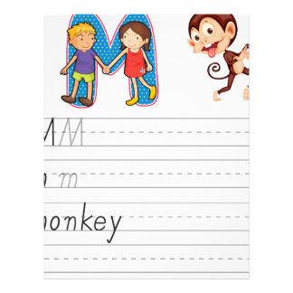 Alphabet worksheet letterhead design