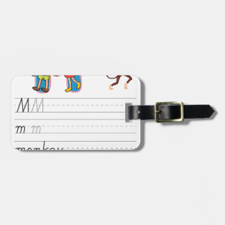 Alphabet worksheet tags for bags