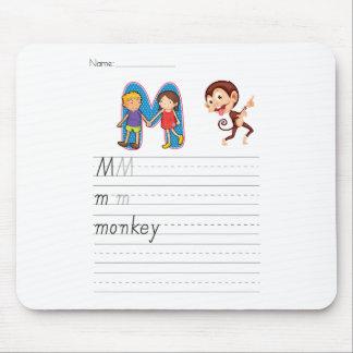 Alphabet worksheet mouse pad