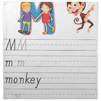 Alphabet worksheet printed napkins