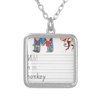 Alphabet worksheet pendants
