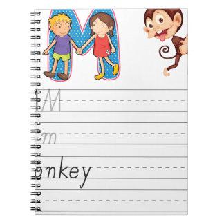 Alphabet worksheet spiral notebooks