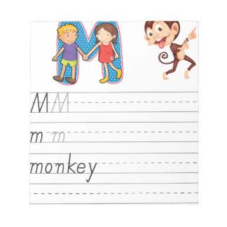 Alphabet worksheet memo note pads