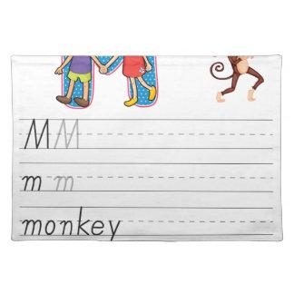 Alphabet worksheet place mat