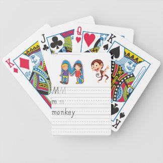 Alphabet worksheet bicycle card deck