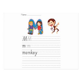 Alphabet worksheet post cards