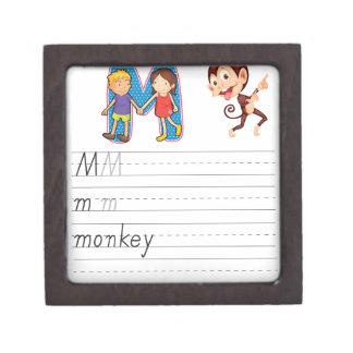 Alphabet worksheet premium keepsake box