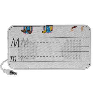 Alphabet worksheet mp3 speakers