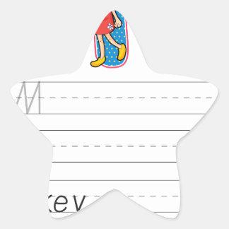 Alphabet worksheet stickers