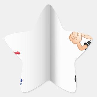 Alphabet worksheet star sticker