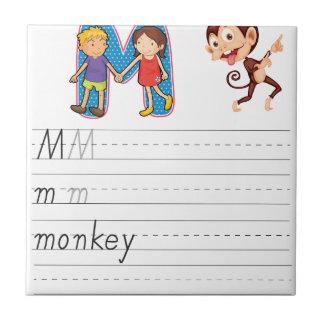 Alphabet worksheet ceramic tiles
