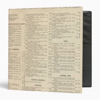 Alphabetical List of Maps and Charts Binder
