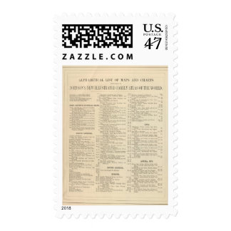 Alphabetical List of Maps and Charts Postage