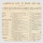 Alphabetical List of Maps and Charts Square Sticker