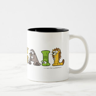 Alphabetimals Personalized Name Mug